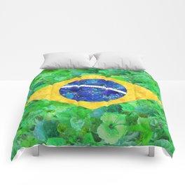 BRASIL em progresso Comforters