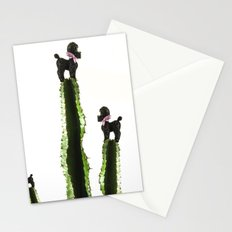 Poodle cacti Stationery Cards