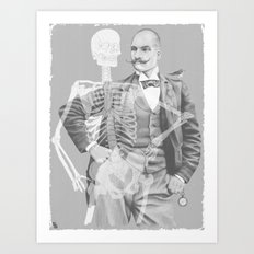 Crown Pursuit -- Black and White Variant Art Print