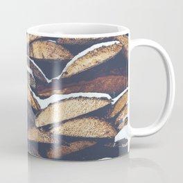 Snowy Logs in Canada Coffee Mug