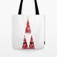 santa Tote Bags featuring SANTA by Pardabon
