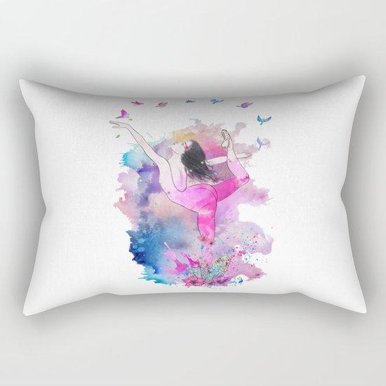 Ballerina with birds Rectangular Pillow