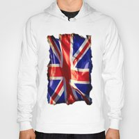 england Hoodies featuring England Flag by Fine2art