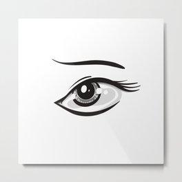 Eye Illustration Metal Print