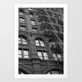 Windows and Stairs Art Print