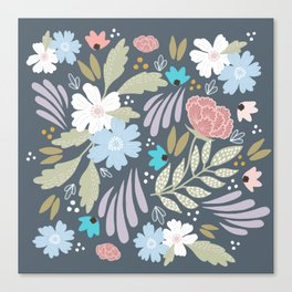 Scandinavian Florals Canvas Print
