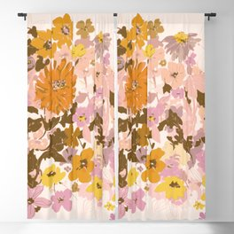 vintage wildflowers Blackout Curtain