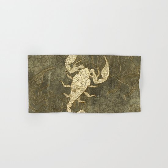 Beautiful Scorpion Mandala Hand Bath Towel By Nicky2342