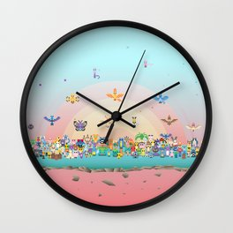 Zoo of Monsters Wall Clock