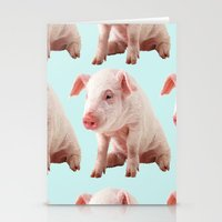 pigs Stationery Cards featuring Pigs by Dora Birgis