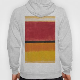 1949 Untitled (Violet, Black, Orange, Yellow on White and Red) by Mark Rothko Hoody
