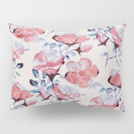 Sun Washed Beach Rose Print Pillow Sham