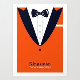 Kingsman The Golden Circle Minimalist Poster - Suited Art Print