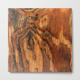 Reclaimed Vintage Wood With Honey Maple Syrup Hues Metal Print