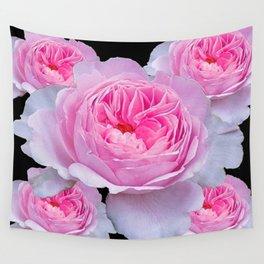 PINK-WHITE GARDEN ROSES ART Wall Tapestry
