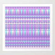 Purple Aztec Art Print