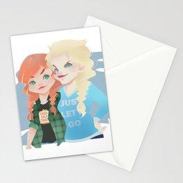 Anna y Elsa Stationery Cards