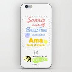 {ESP} SONRÍE · SUEÑA · AMA iPhone & iPod Skin