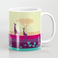 safari Mugs featuring Safari by Kakel