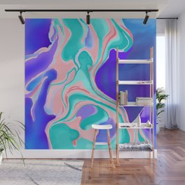 Cotton Candy Marble Wall Mural
