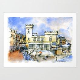 Hotel sul lungomare Art Print