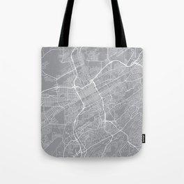Birmingham Map, Alabama USA - Pewter Tote Bag