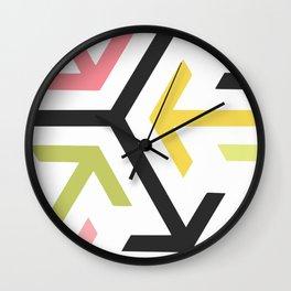 Arrow in pastel Wall Clock