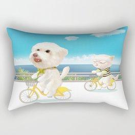 Biking Rectangular Pillow