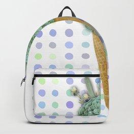 SUCCULENT CACTUS ICE CREAM Backpack