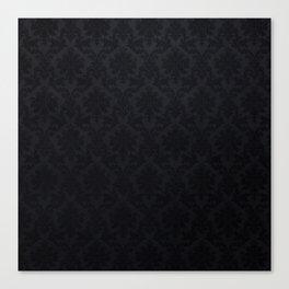 Black damask - Elegant and luxury design Canvas Print