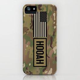 Hooah (Camo) iPhone Case