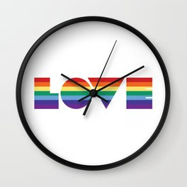 Rainbow love Wall Clock