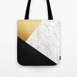 GOLDEN MARBLE TRIANGLE Tote Bag