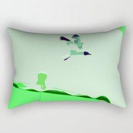 Beach Graphics No 2: Kelly Green Rectangular Pillow