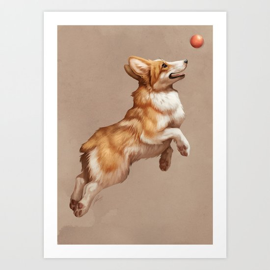 Catch the ball Art Print