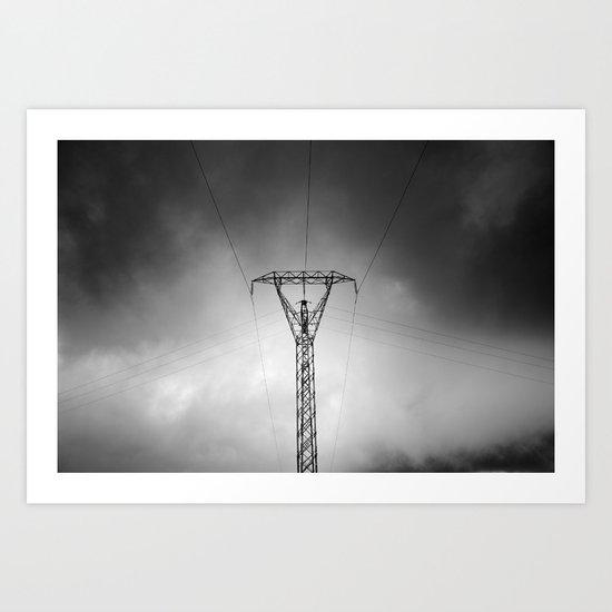 Electrical symmetries Art Print