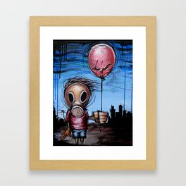 Toxic Kid Framed Art Print