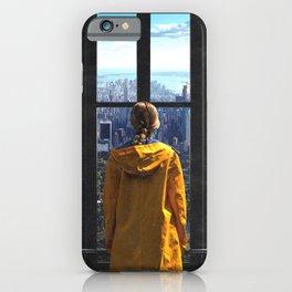 New York City Skyline and Raincoat iPhone Case