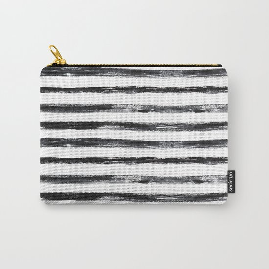 Grungy stripes Carry-All Pouch