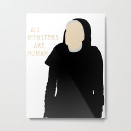 All Monsters Are Human - Sister Jude - AHS: Asylum Metal Print