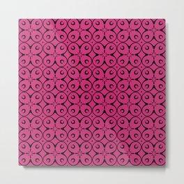 My Lucky Day Pink Yarrow Metal Print