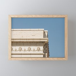 Intersecting Lines - Architecture Minimal Print Framed Mini Art Print
