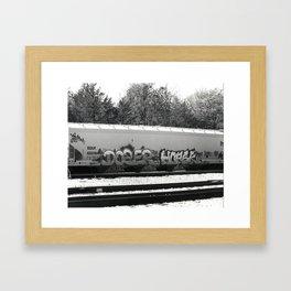 Graffiti Train Framed Art Print