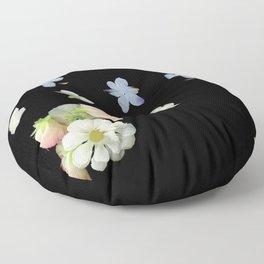 Sweet Pea, Daisy, Hydrangea Glitch Floor Pillow