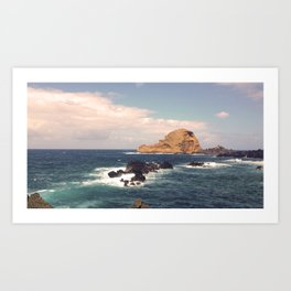 Sea Rocks In The Atlantic Ocean Art Print
