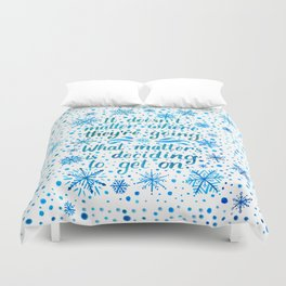 The Thing About Trains Duvet Cover
