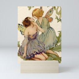 """Two Butterfly Fairies"" by Erich Schutz Mini Art Print"