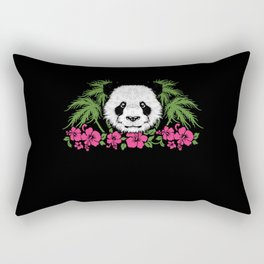 Bamboo Panda Panda Harbor Panda Head Girl Outfit Rectangular Pillow
