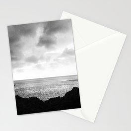 Moody B&W Photo of Shark's Cove on Oahu, HI Stationery Cards