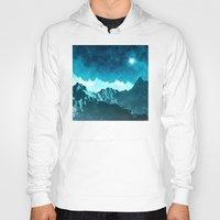 outer space Hoodies featuring Outer Space Mountains by Phil Perkins